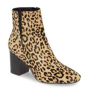 NEW Halogen Abbi Block Heel Bootie Leopard Print